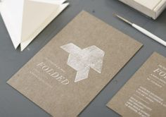 beautiful invitation to a paper show \\
