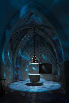 Baptistry at Cathedrale Sainte Eulalie-et-Sainte-Julie, Elne (Pyrénées-Orientales) Photo by Dennis Aubrey