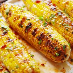 The prettiest corn you'll grill all summer.