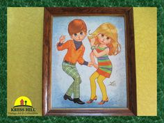 SALE Large MOD Lithograph 1960's Vintage Art by KressHillVintage, $62.00