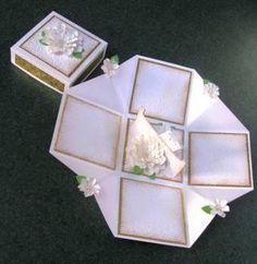 White roses on white explosion box