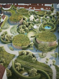 Image 9 of 14 from gallery of Kengo Kuma and Cornelius+Vöge Release Plans for Hans Christian Andersen Museum in Odense. Courtesy of Kengo Kuma & Associates, Cornelius+Vöge, and MASU planning Kengo Kuma, Urban Landscape, Landscape Design, New Museum, Famous Architects, Hans Christian, 3d Models, Chapelle, Design Museum