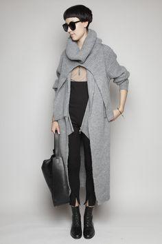 3.1 Phillip Lim - Long Coat Cardigan - Grey Melange