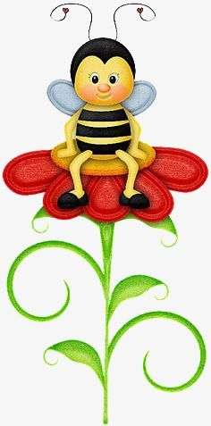 """Photo from album """"Bee Happy"""" on Yandex. Diy And Crafts, Crafts For Kids, Paper Crafts, Bee Clipart, Bee Images, Art Mignon, Cute Bee, Bee Art, Bee Theme"""