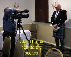 Filming a new Clan Hunter film.
