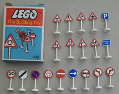 1960s Lego road signs Lego Road, Vintage Lego, Childhood Toys, Building Toys, 1960s, Nostalgia, Triangle, Kid, Traditional