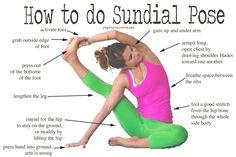 Pin now, practice sundial pose later! Wearing: Kira Grace pants, lululemon top (similar), polish