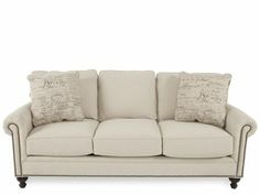 BROY-6751-3/8371-82E - Broyhill Harrison Linen Sofa | Mathis Brothers Furniture $773