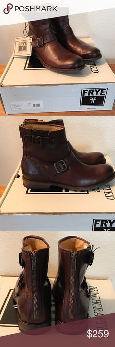 Frye Men's Tyler Engineer Leather Boots Dark Brown Brand new never used  Men's size US 9 Frye Tyler Engineer boots with original box.