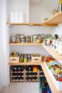 DIY Pantry Upgrade with cork covered shelves! | Little House On The Corner