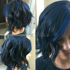 #blueblack #short #textured #bob #joico #sapphire