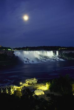 American side of Niagara Falls Live a short distance from the Falls.  But never get tired of seeing it!!