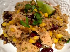 Dirty Rice, Red Beans and Chicken is the perfect one pot meal to feed a crowd! http://thebrownlounge.com/recipe/cajun-dirty-rice-red-beans-and-chicken/#
