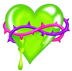 GREEN HEART ENCLOSED IN THORNS Heart Wallpaper, Cute Wallpaper Backgrounds, Love Wallpaper, Cute Wallpapers, Pattern Wallpaper, Cute Heart Drawings, Girl Drawings, Skull Tattoo Flowers, Heart Coloring Pages