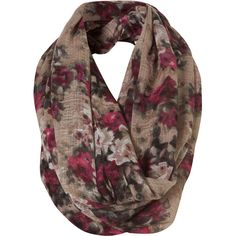 Cream Floral Snood (100 BRL) ❤ liked on Polyvore featuring accessories, scarves, women, snood scarves, cream shawl, cotton scarves, floral shawl and floral scarves