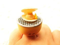 Kawaii Cute Japanese Food Ring Grilled Scallop by SouZouCreations, $10.00