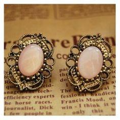 Vintage pink earrings.