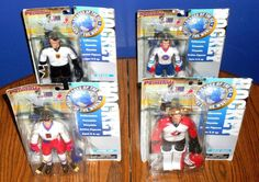 LOT OF 4 1998 NHL OLYMPIC HOCKEY ACTION FIGURES BY PRIMETIME INDUSTRIES #PrimetimeIndustries