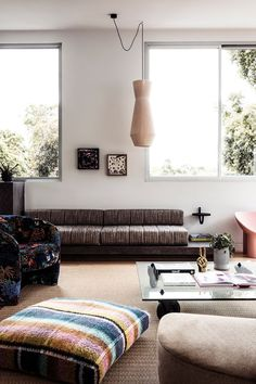 cozy living room Nyc Studio Apartments, Rug Over Carpet, Melbourne House, Cozy Living Rooms, Cool Rugs, Home And Family, Beaches In The World, Interior, This Is Us