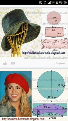 5a12769c7022b79dcf54b2d0a98d6d16.jpg 540×960 พิกเซล Hat Patterns To Sew, Hat Pattern Sewing, Sewing Patterns Free, Clothing Patterns, Hat Making, Cloche Hat, Ear Protection, Hat Tutorial, Diy Hat