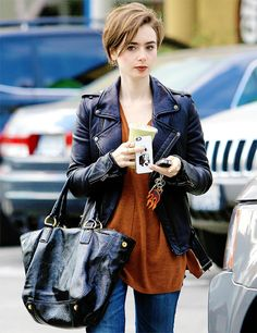 Lily Collins out 02.23.15