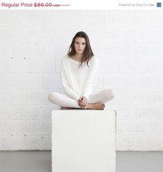 Big summer Sale Winter fashion White Braided by naftul on Etsy, $64.50