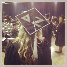 Delta Zeta graduation cap