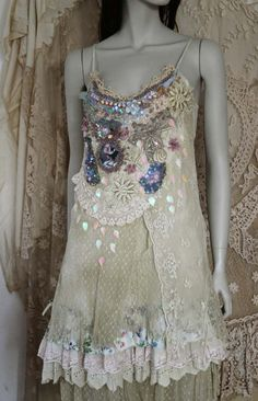 Museromantic embroidered and beaded top/tunic by FleursBoheme