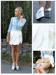 Anca Oniga White-Mini-Skirt