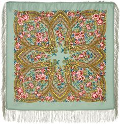 Authentic Russian shawl of Pavlovo Posad manufactory 89x89,100% wool, 29.99 GBP - buy at www.vasilisa.co.uk
