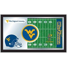 "West Virginia Mountaineers 15"" x 26"" Football Mirror"