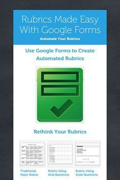 Rubrics Made Easy With Google Forms