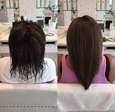 Before and after blowout transformation!