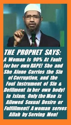 Women are responsible for their own rape, because Allah hates women!