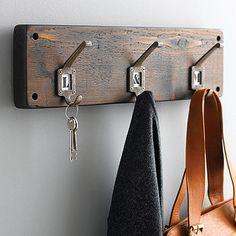 Reclaimed Wood Hook Board