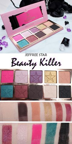 Jeffree Star Beauty Killer Palette video review. Live swatches, looks and more!