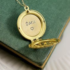 Personalized Locket Locket Pendant Personalized by JewelleryJKW