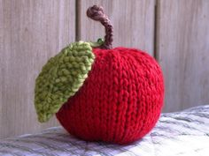 free apple knit pattern