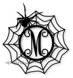 Spider Web Circle Monogram Frame SVG File svg dxf png pdf jpg for Cameo, Cricut Print & other electronic cutting machines Halloween Vinyl, Holidays Halloween, Halloween Crafts, Halloween Decorations, Halloween Designs, Halloween Shirt, Circle Monogram, Monogram Frame, Vinyl Crafts