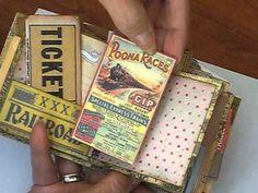 "▶ 3"" x 3"" Book of Wonders for Dr. J. Scrapman - World Traveler Meandering Mini Album - YouTube"