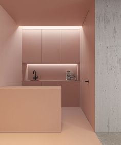 A commercial office in Kiev, Ukraine gets a bold coat of pink in this design by architect Emil Dervish. These bold statements are really nice to me, especially in a professional environment with a lot