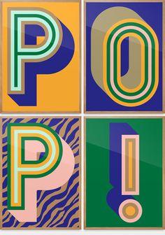 POP! Poster — P (yellow)