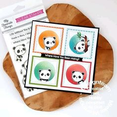 My Favorite Things stamps Panda Pals Clear Stamps, Panda, My Favorite Things, Pandas