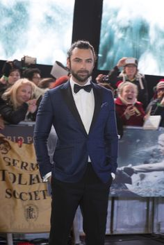 @renaissancegirl - you've finally got your wish: Aidan Turner in a bow tie.  ;) BOFA London premiere, December 1, 2014.