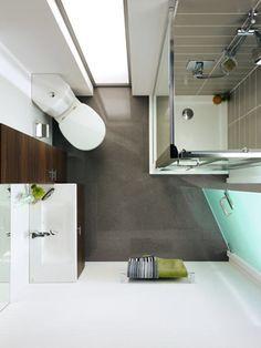 Salle de bains d'angle