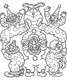 Faschingsbilder Mandala Clown ausmalen #children #print # ...