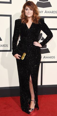 See Your Favorite Stars On The 2016 Grammys Red Carpet - Meghan Trainor  - from InStyle.com