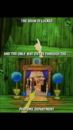 Because there can totally be a perfume department full of humans on a ghost ship underwater.