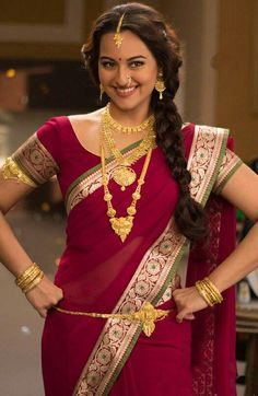 Sonakshi Sinha burst into the Bollywood scene when she made her dream debut opposite Salman Khan in Dabangg which released in From then itself,. Sonakshi Sinha Saree, Priyanka Chopra, Deepika Padukone, Indian Bollywood, Bollywood Actress, Indian Dresses, Indian Outfits, Most Beautiful Indian Actress, Beautiful Actresses