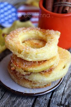 Apple Rings - cinnamon apple slices - My CMS Fruit Recipes, Apple Recipes, Sweet Recipes, Dessert Recipes, Brunch Recipes, Churros, Beignets, Cooking Time, Cooking Recipes
